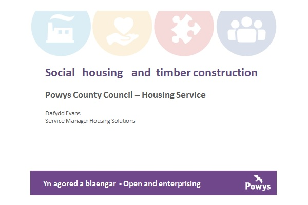 First slide from Power Point Presentation by Powys County Council by Dafydd Evans