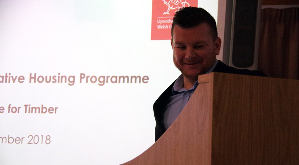 Darren Hatton from Welsh Government giving a presentaion