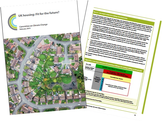 Front cover and one page from report showing lay out